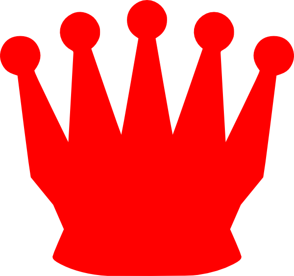 Red crown clipart transparent banner library Red Crown Clip Art at Clker.com - vector clip art online, royalty ... banner library