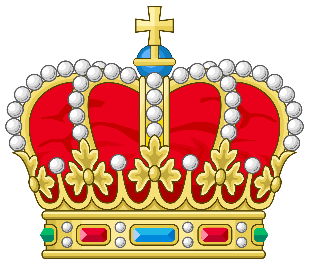 Clipart crown with german cross vector black and white stock Herzog - Wikipedia vector black and white stock