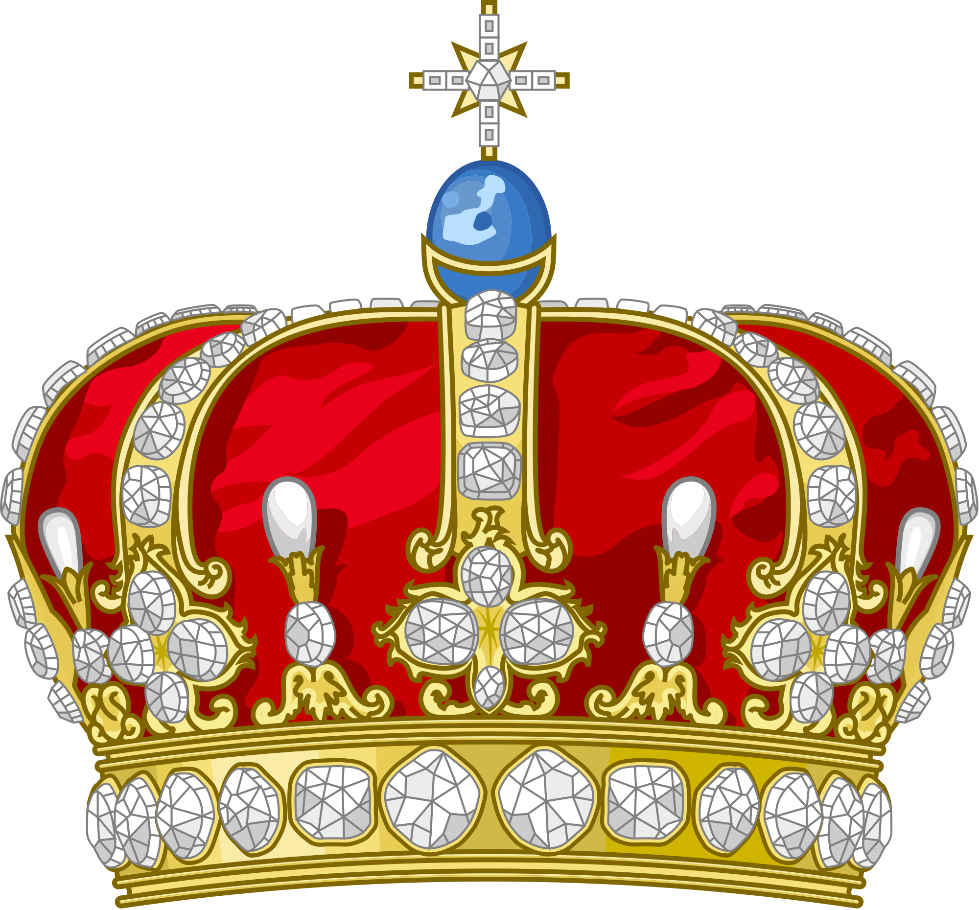 Clipart crown with german cross png royalty free stock File:Crown of Wilhelm II of Germany.svg - Wikimedia Commons png royalty free stock