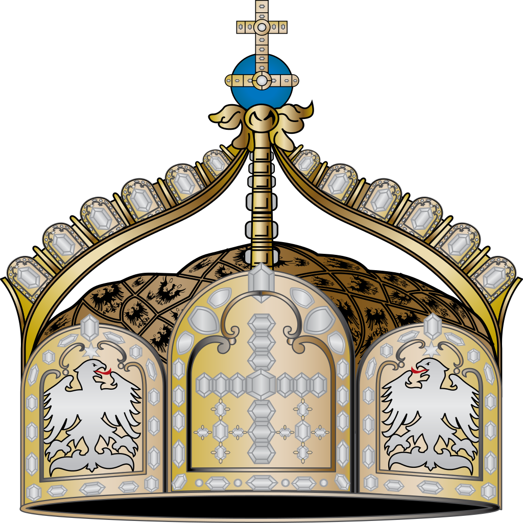 Clipart crown with german cross clipart transparent stock File:Imperial State Crown of Germany.svg - Wikipedia clipart transparent stock
