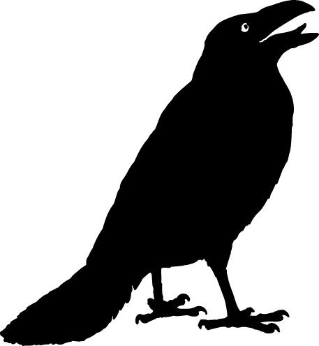 Clipart crows black and white stock Crow Clipart | BVAS - 40th Anniversary Project in 2019 | Halloween ... black and white stock