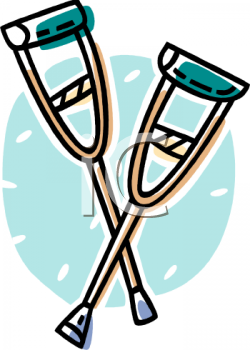Clipart crutches png library stock crutches\