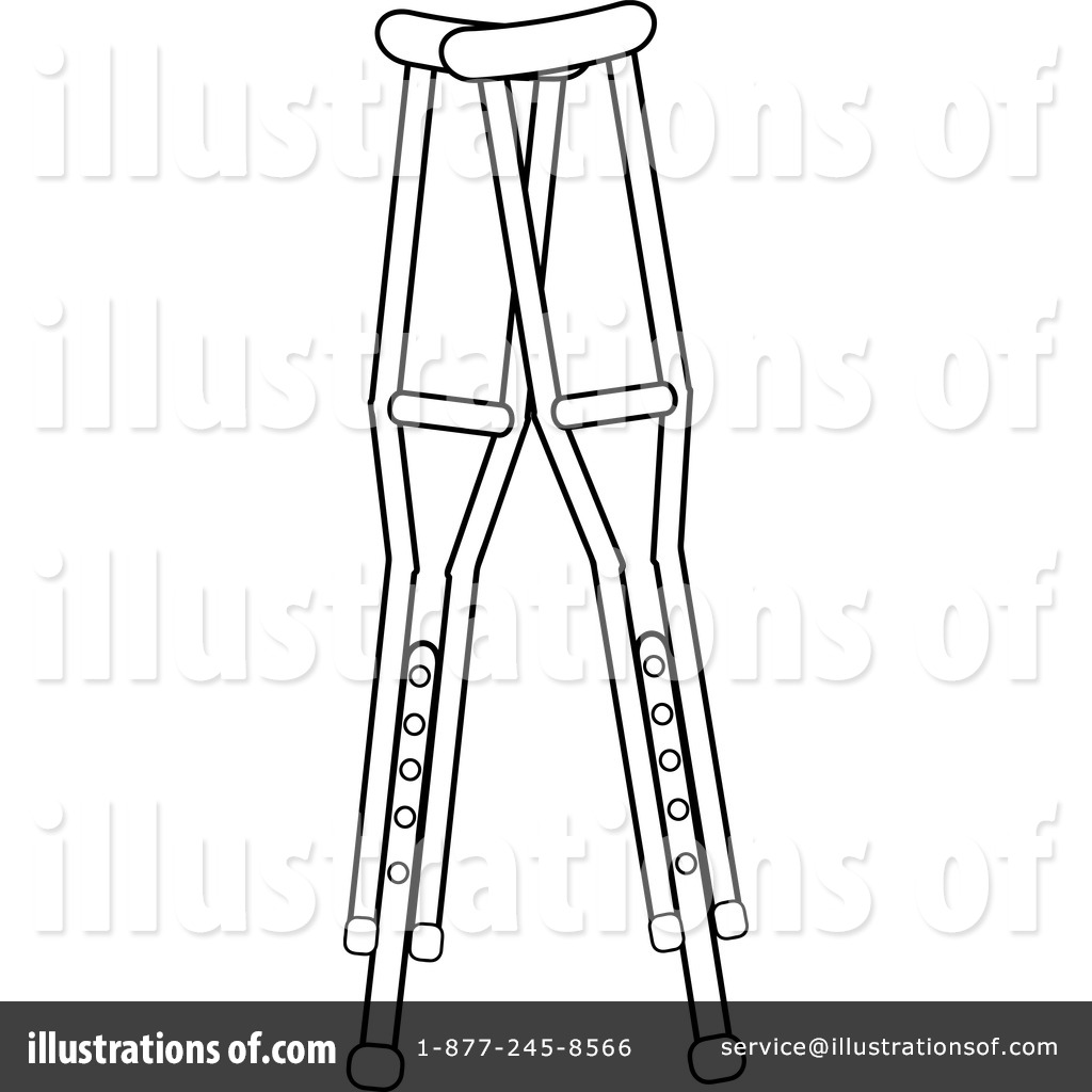 Clipart crutches freeuse stock Crutches Clipart #1079157 - Illustration by Pams Clipart freeuse stock