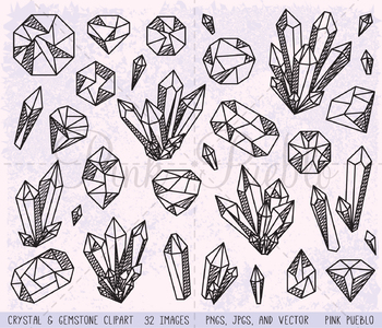 Clipart crystal banner royalty free stock Doodle Crystal Clipart, Crystal Clip Art, Gemstone Clipart, Gemstone Clip  Art banner royalty free stock
