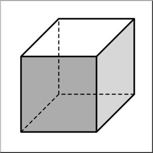 Clipart cube clip art library Clip Art: 3D Solids: Cube Grayscale I abcteach.com | abcteach clip art library