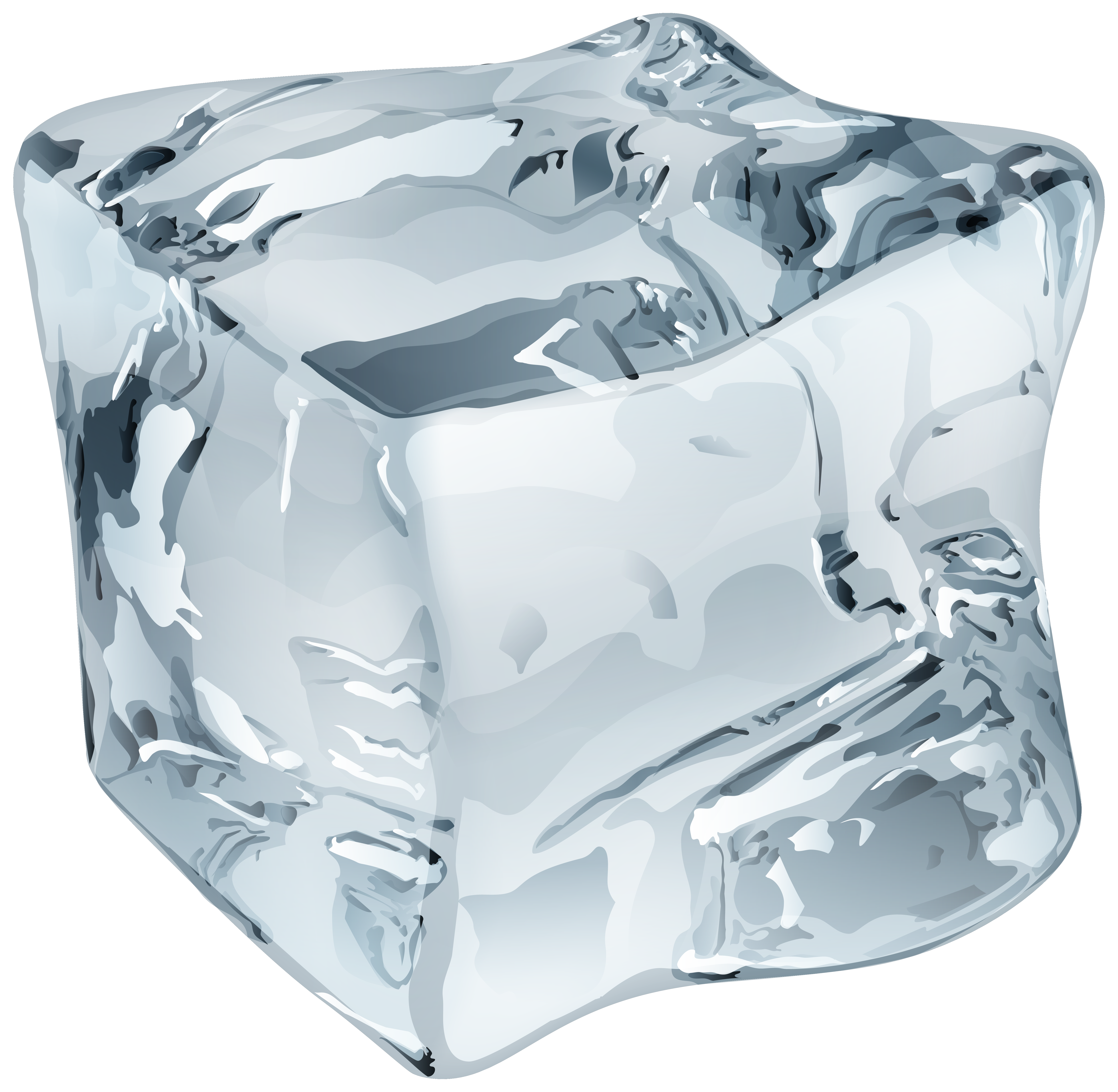 Clipart cube ice melting in the sun graphic royalty free stock Large Ice Cube PNG Clip Art - Best WEB Clipart graphic royalty free stock