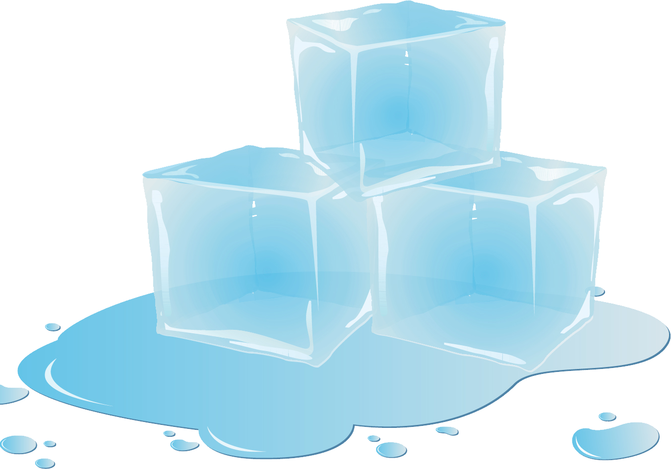 Clipart cube ice melting in the sun clip art transparent Ice cubes PNG image clip art transparent