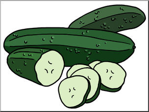 Clipart cucumbers picture freeuse stock Clip Art: Cucumbers Color I abcteach.com | abcteach picture freeuse stock