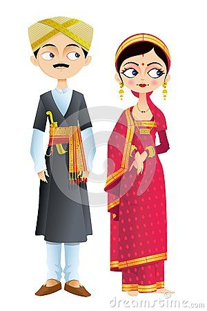 Clipart culture marriage clip free Indian Wedding Couple Clipart Wedding couple of karnataka | cards in ... clip free