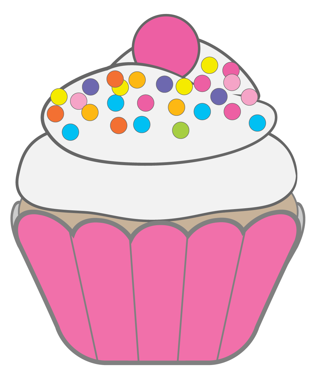 Free cakes clipart. Cupcake black and white