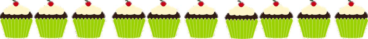 Cupcake border clipart free clip library stock Cupcakes Clipart Border | Clipart Panda - Free Clipart Images clip library stock