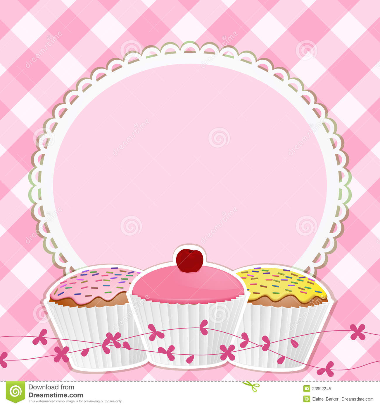 Clipart cupcake border clip free stock Cupcakes clipart border 2 » Clipart Station clip free stock