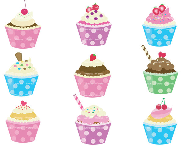 Clipart cupcake border png black and white stock Best Cupcake Border Clip Art #21225 - Clipartion.com png black and white stock