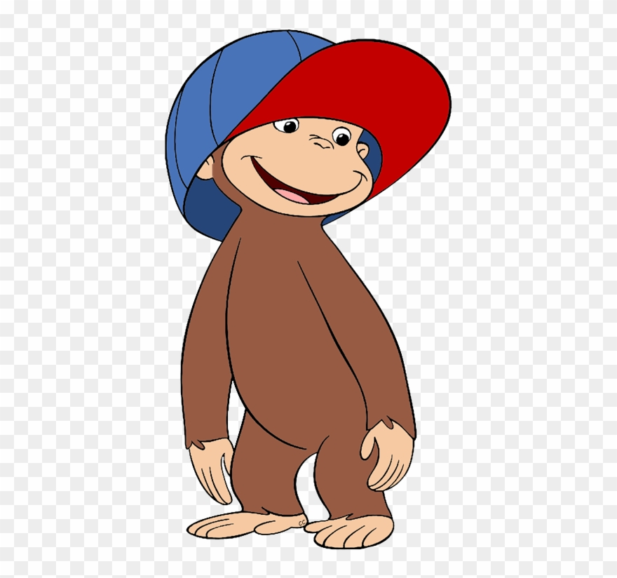 Clipart curious vector royalty free library Curious George Clipart - Curious George In Hat - Png Download ... vector royalty free library