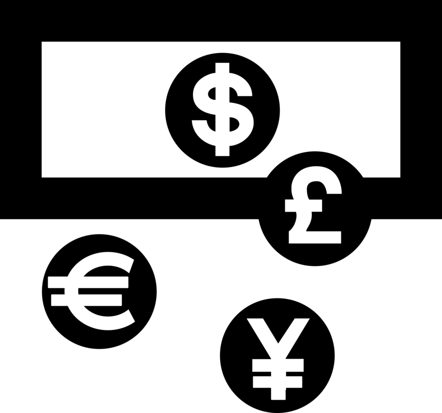 Clipart currency image black and white stock Money Logo clipart - Money, Text, Technology, transparent clip art image black and white stock