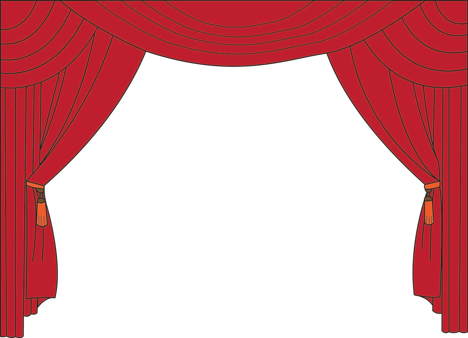 Red theater curtain clipart
