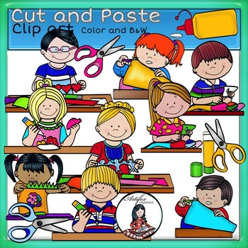 Clipart cut and paste graphic library Cut and Paste clip art -Color and B&W- by Artifex | TpT graphic library