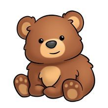 Clipart cute bear banner stock cute bear clipart - Google Search | Rocks | Bear drawing, Teddy bear ... banner stock