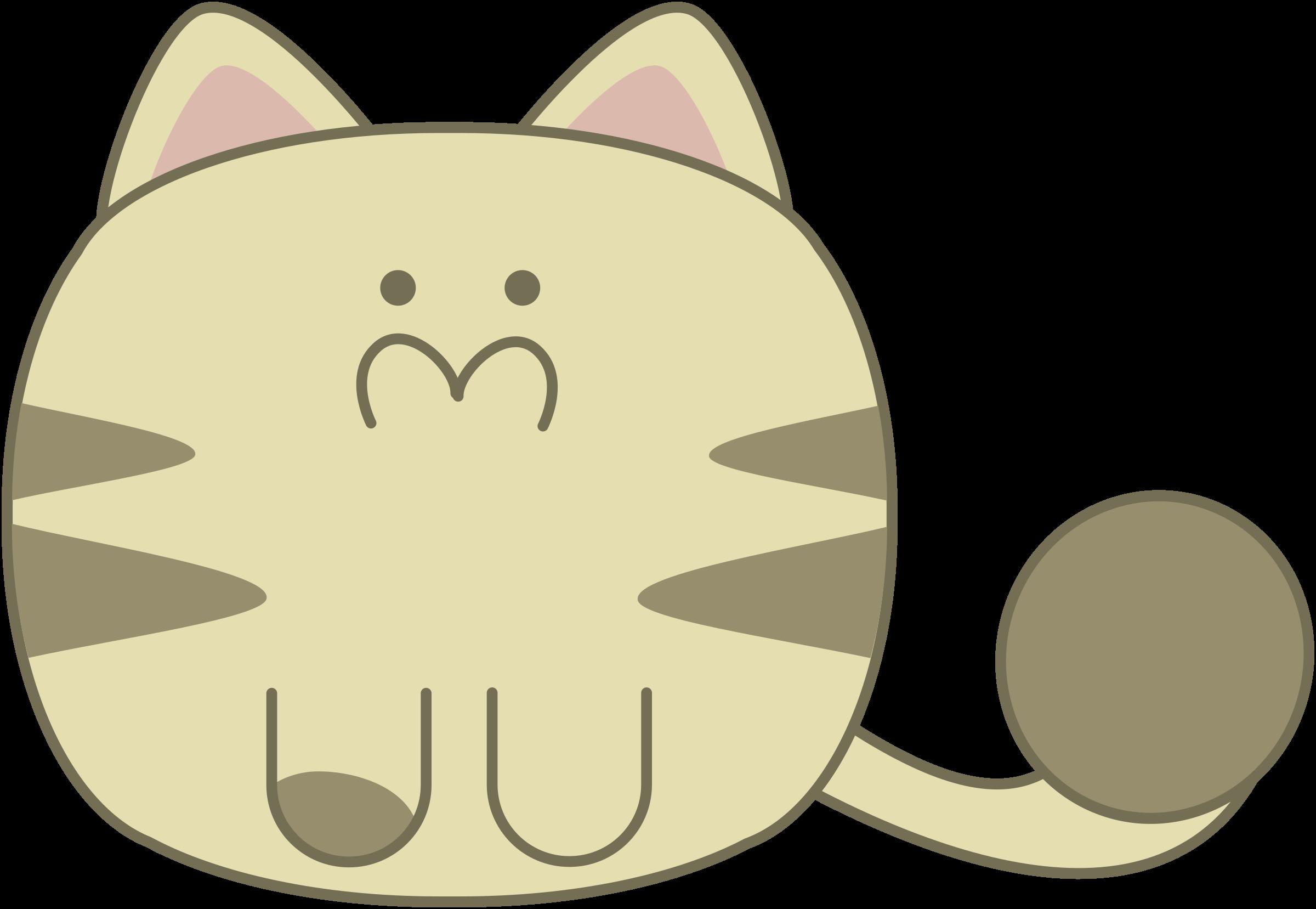 Big image png. Cute clipart cat
