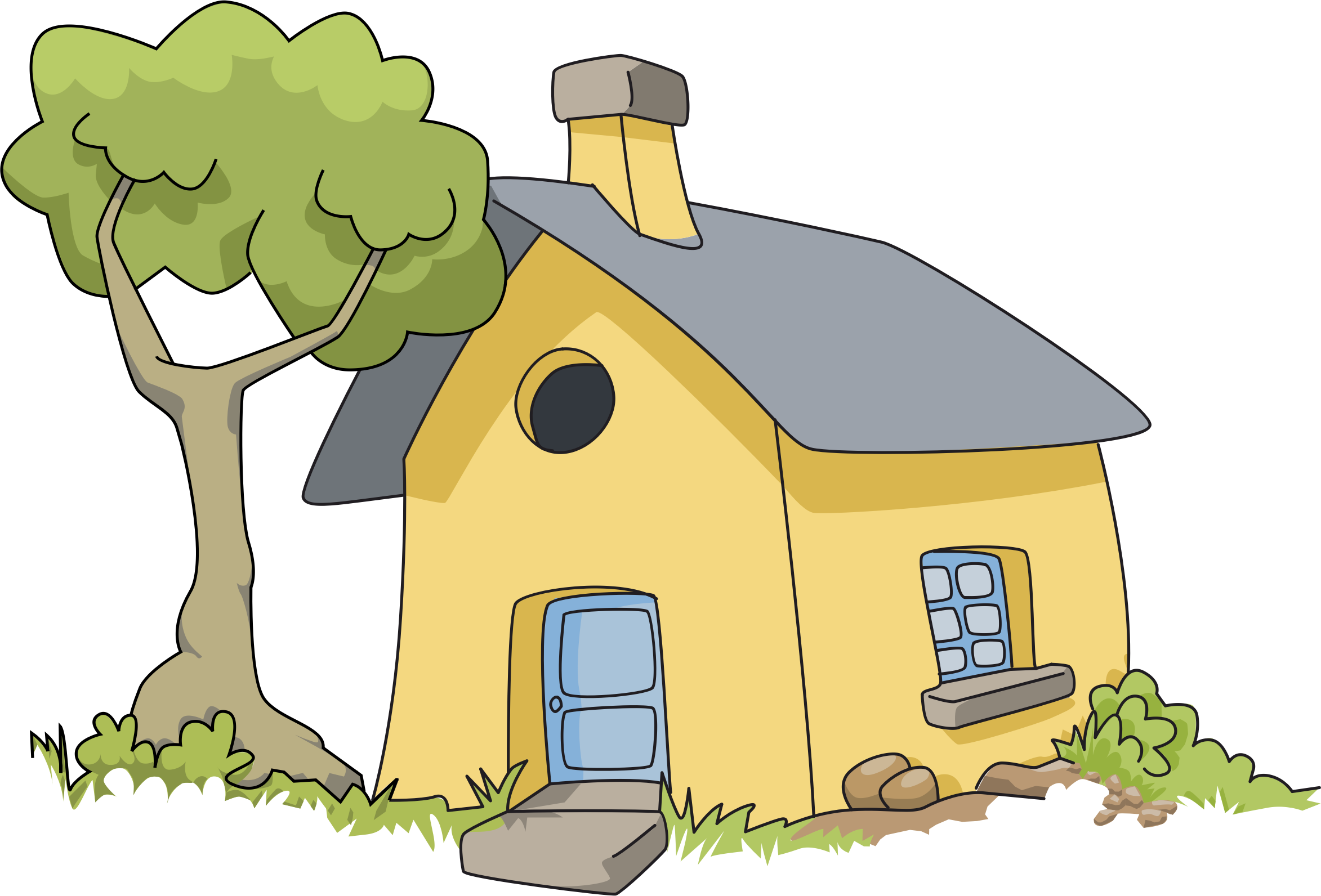 Clipart images of house clipart black and white 28+ Collection of House In Woods Clipart | High quality, free ... clipart black and white