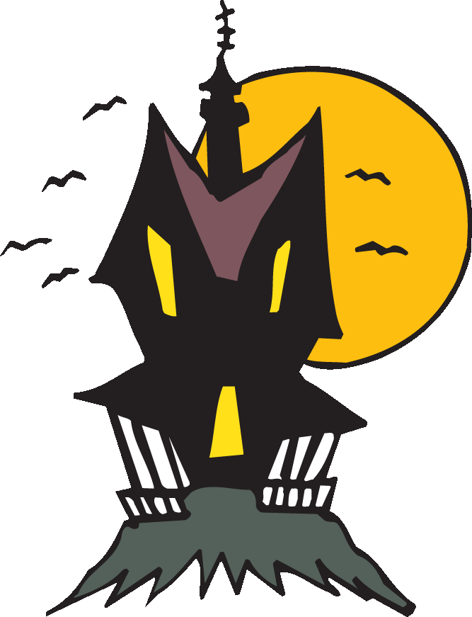 Clipart haunted house graphic free library Halloween House Clipart at GetDrawings.com | Free for personal use ... graphic free library