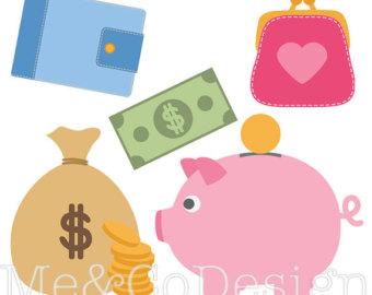 Clipart cute piggy bank. Clip art etsy banking