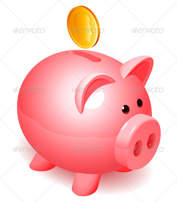 Clipart cute piggy bank. Banking cliparts and others