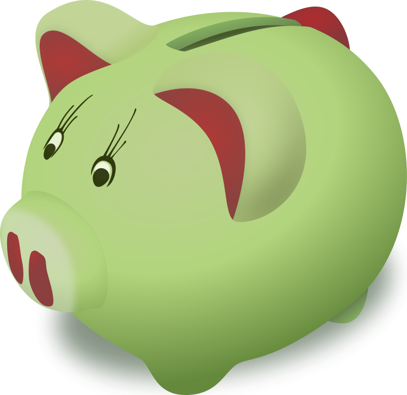 Pictures free download clip. Clipart cute piggy bank