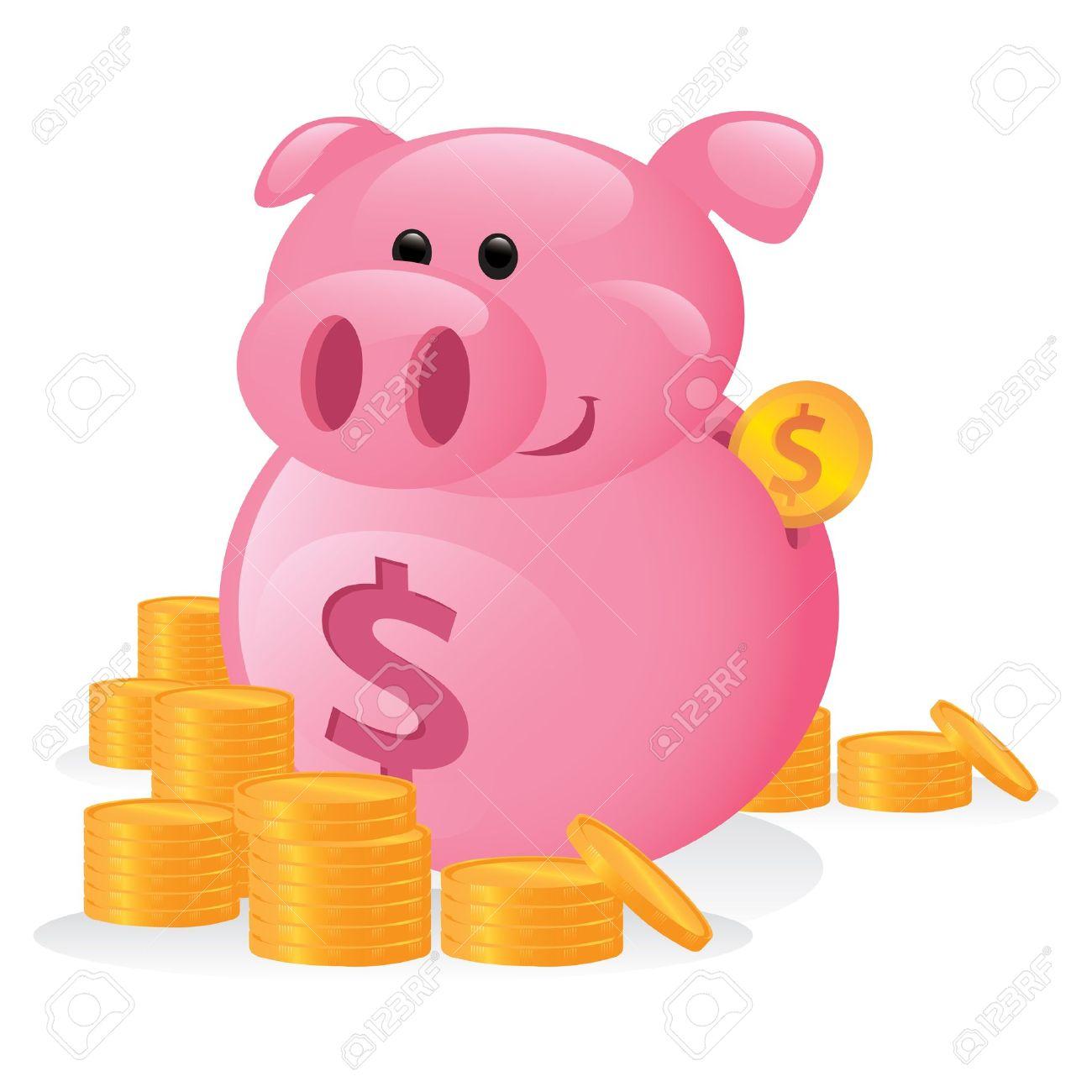 Clipart cute piggy bank. Clipartfest cartoon