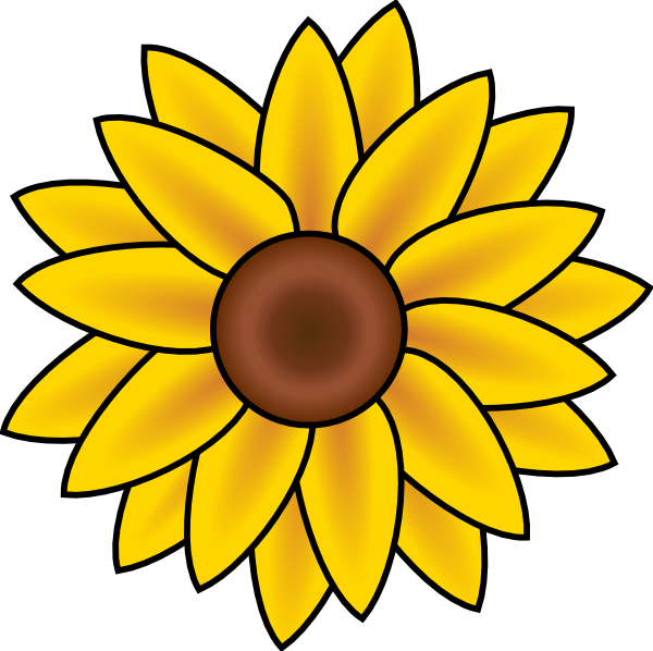 Free Printable Sunflower Stencils | Sunflower clip art - vector clip ... jpg stock