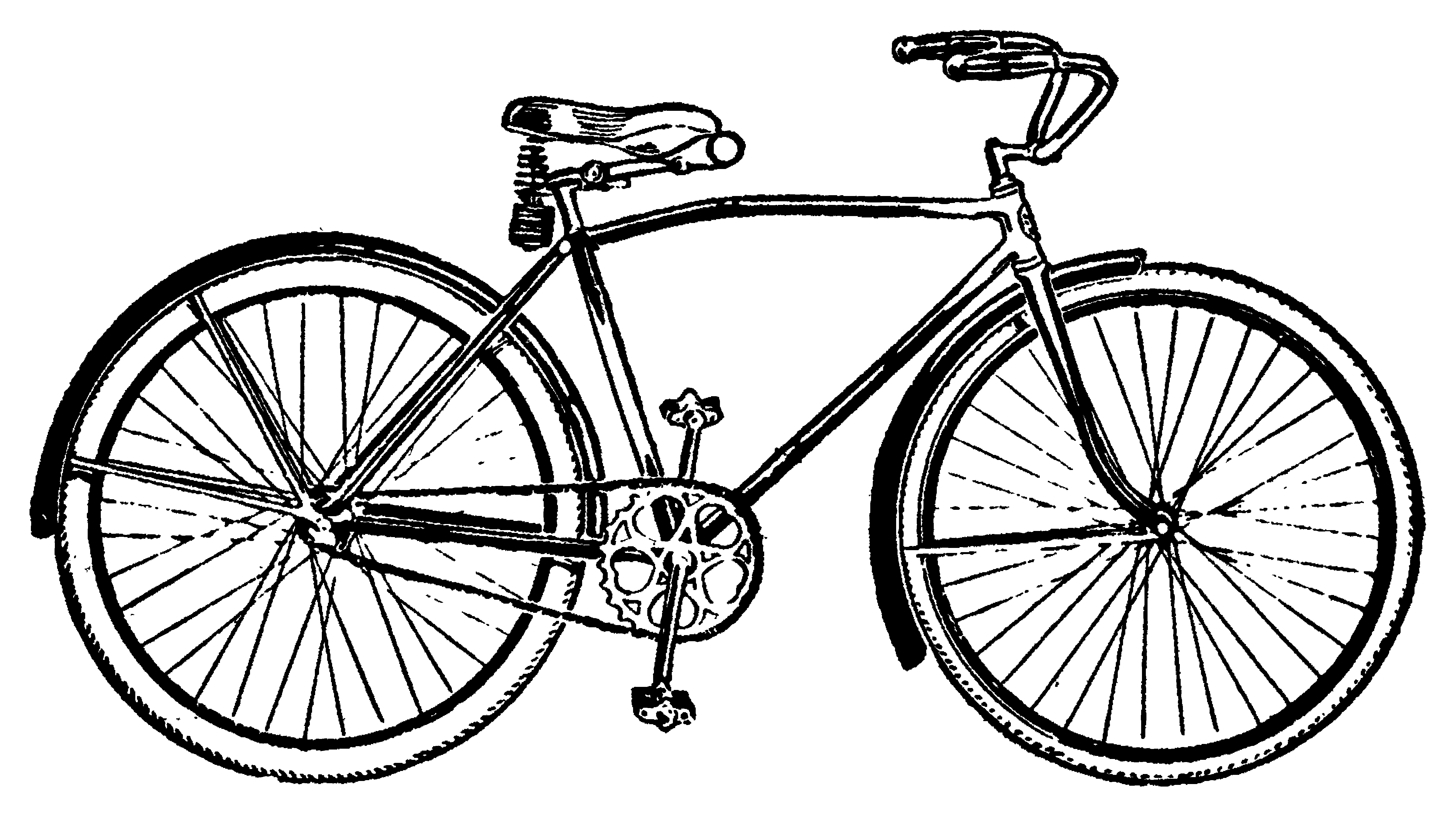 Clipart cycle clip art black and white stock Cycle Clip Art – Clipart Free Download clip art black and white stock