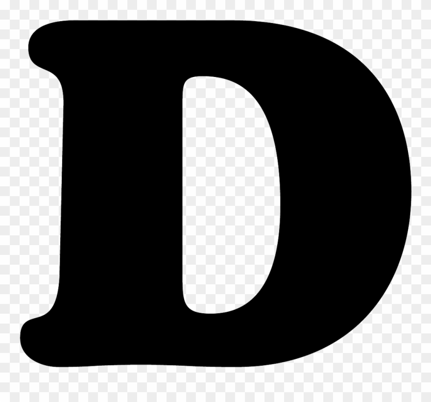 Letter d clipart black and white Letter D Png - Letter D In Black Clipart (#1120005) - PinClipart black and white