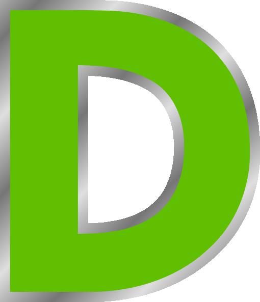 Clipart d clip download D Green Clip Art at Clker.com - vector clip art online, royalty free ... clip download