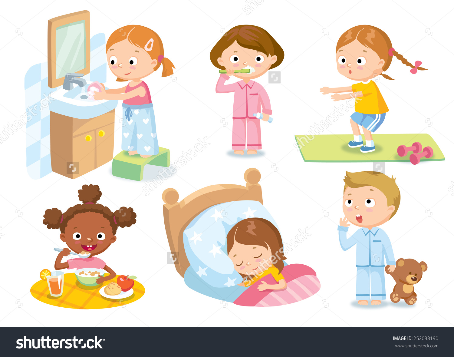 Clipart daily routine picture royalty free download Daily routine clipart 8 » Clipart Station picture royalty free download