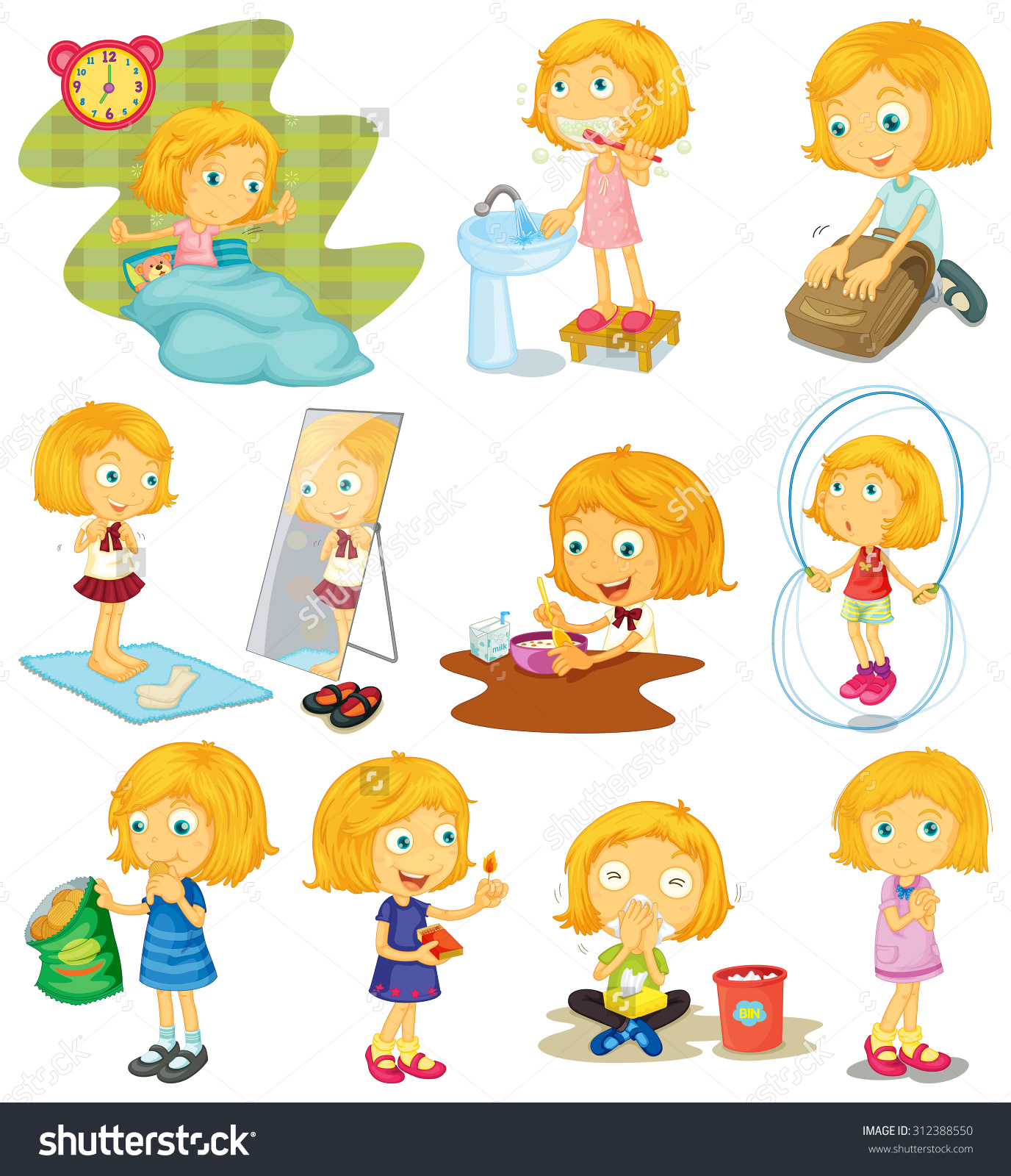 Clipart daily routine clip art freeuse library Daily routine clipart 10 » Clipart Station clip art freeuse library