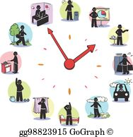 Clipart daily routine free Daily Routine Clip Art - Royalty Free - GoGraph free