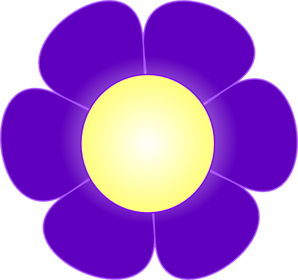 Purple daisy flower clipart graphic free stock Purple Daisy Flower, Clip Art at Clker.com - vector clip art online ... graphic free stock