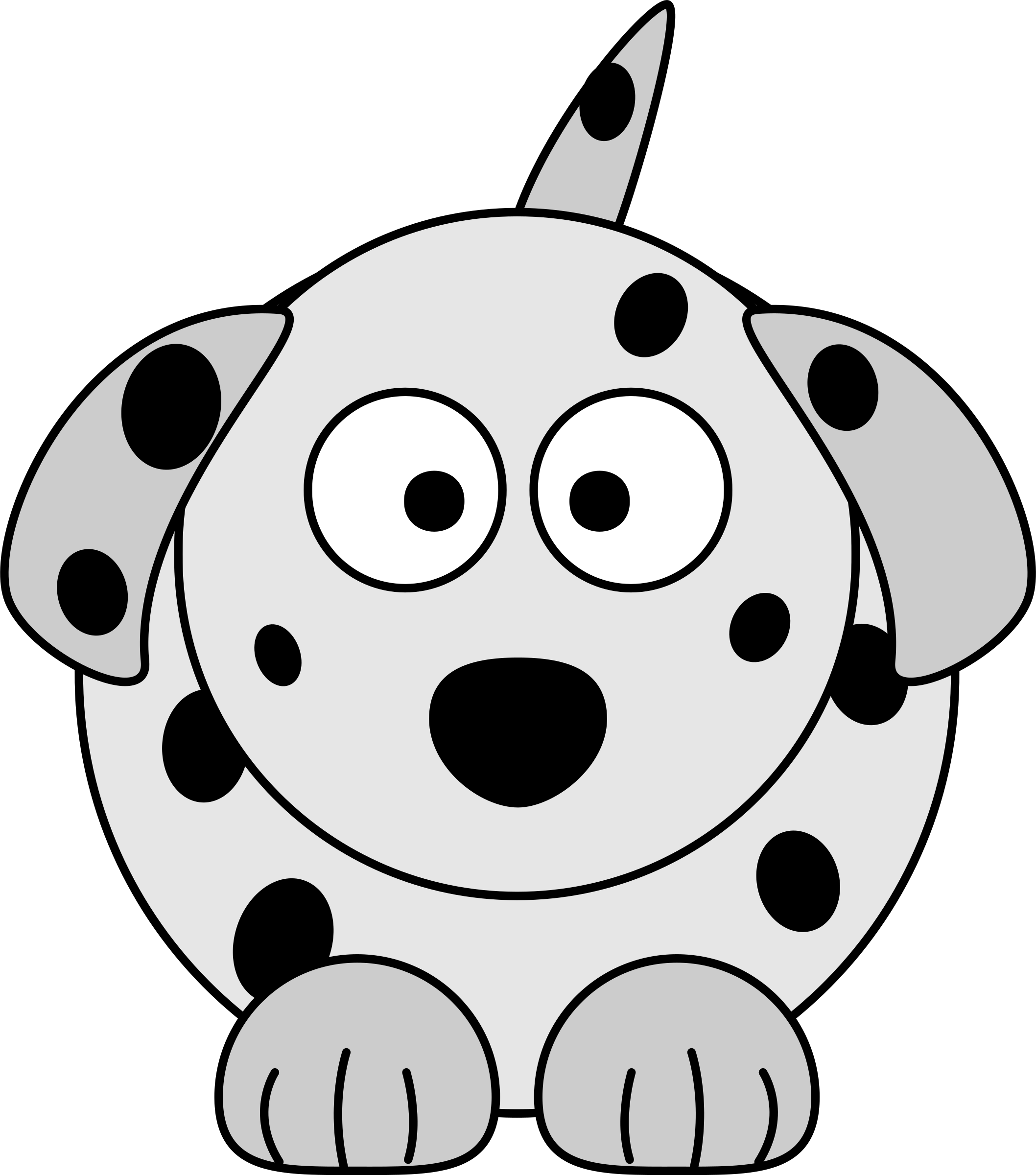 Dog clipart images free stock Clipart - Dalmatian Cartoon Dog free stock
