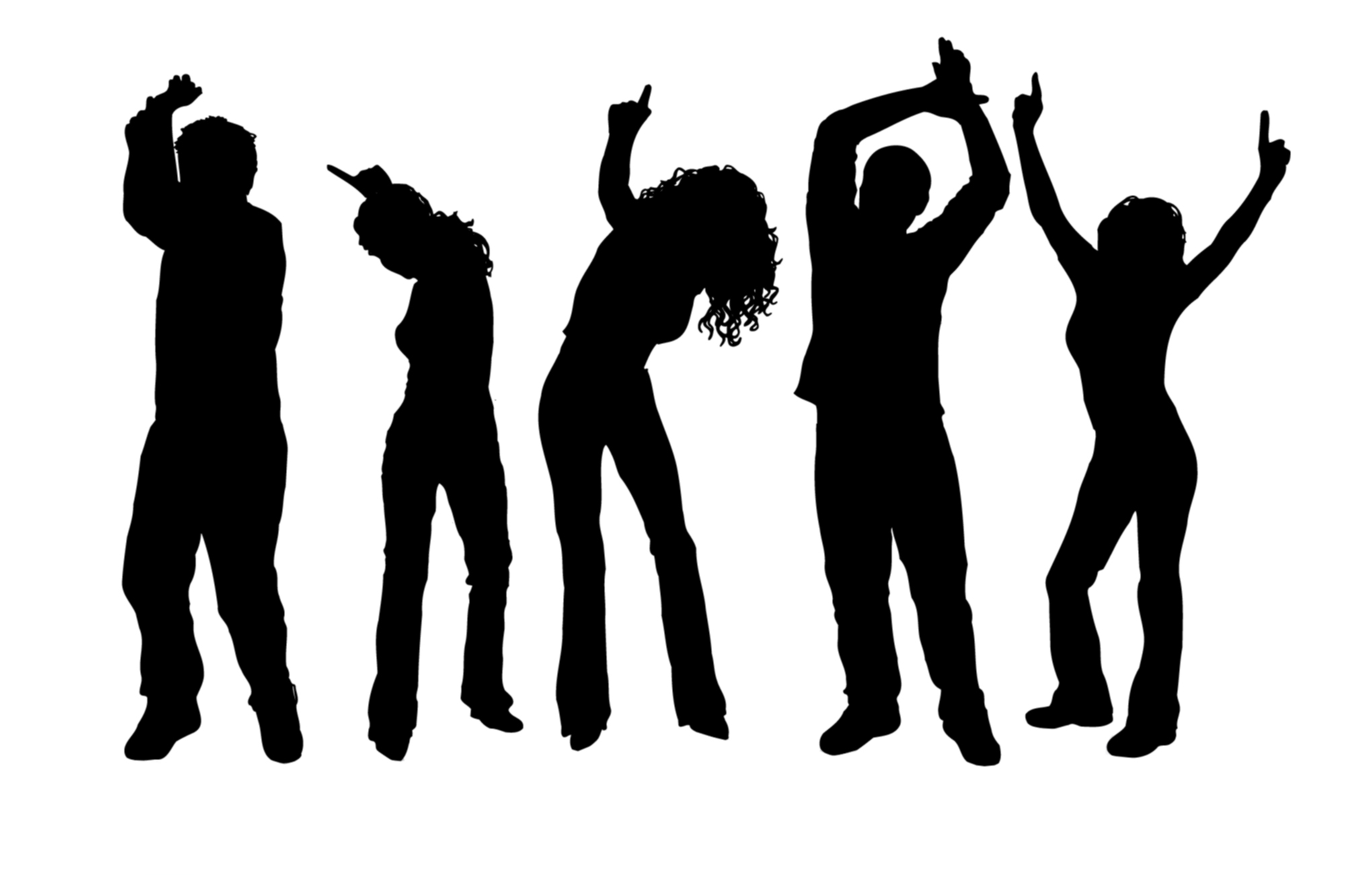 Free clipart of a outlining of crowd dancing picture transparent download Free Dance Cliparts, Download Free Clip Art, Free Clip Art on ... picture transparent download