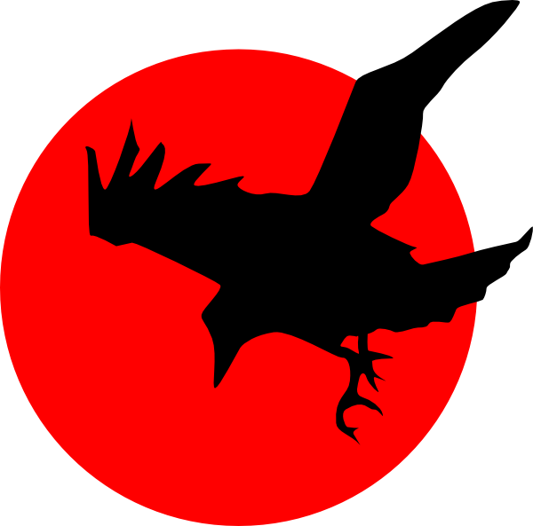 Falcon rising sun clipart clip transparent Raven Clip Art | Raven On Red clip art - vector clip art online ... clip transparent