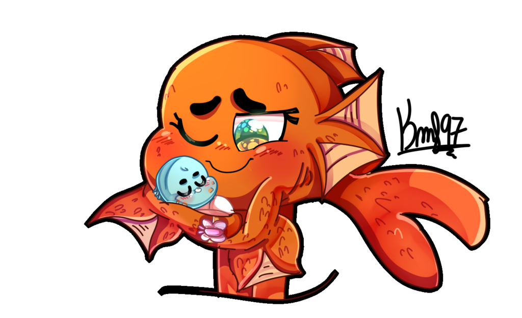 Clipart darwin fish red graphic library library TAWOG: Baby Owen with his Mommy Fish by karsisMF97 on DeviantArt graphic library library