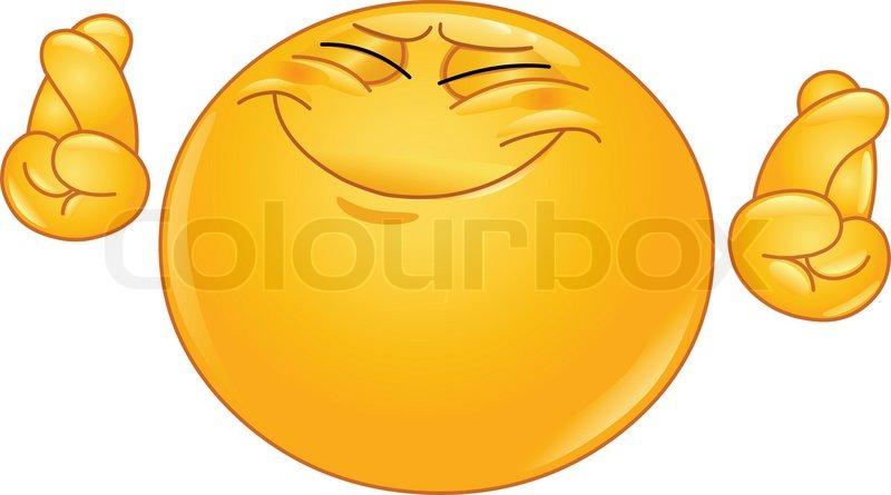 Clipart daumen drcken kostenlos clip art stock Kreuzung Finger emoticoneps | Vektorgrafik | Colourbox clip art stock
