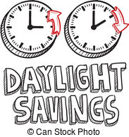 Daylight savings time clock clipart
