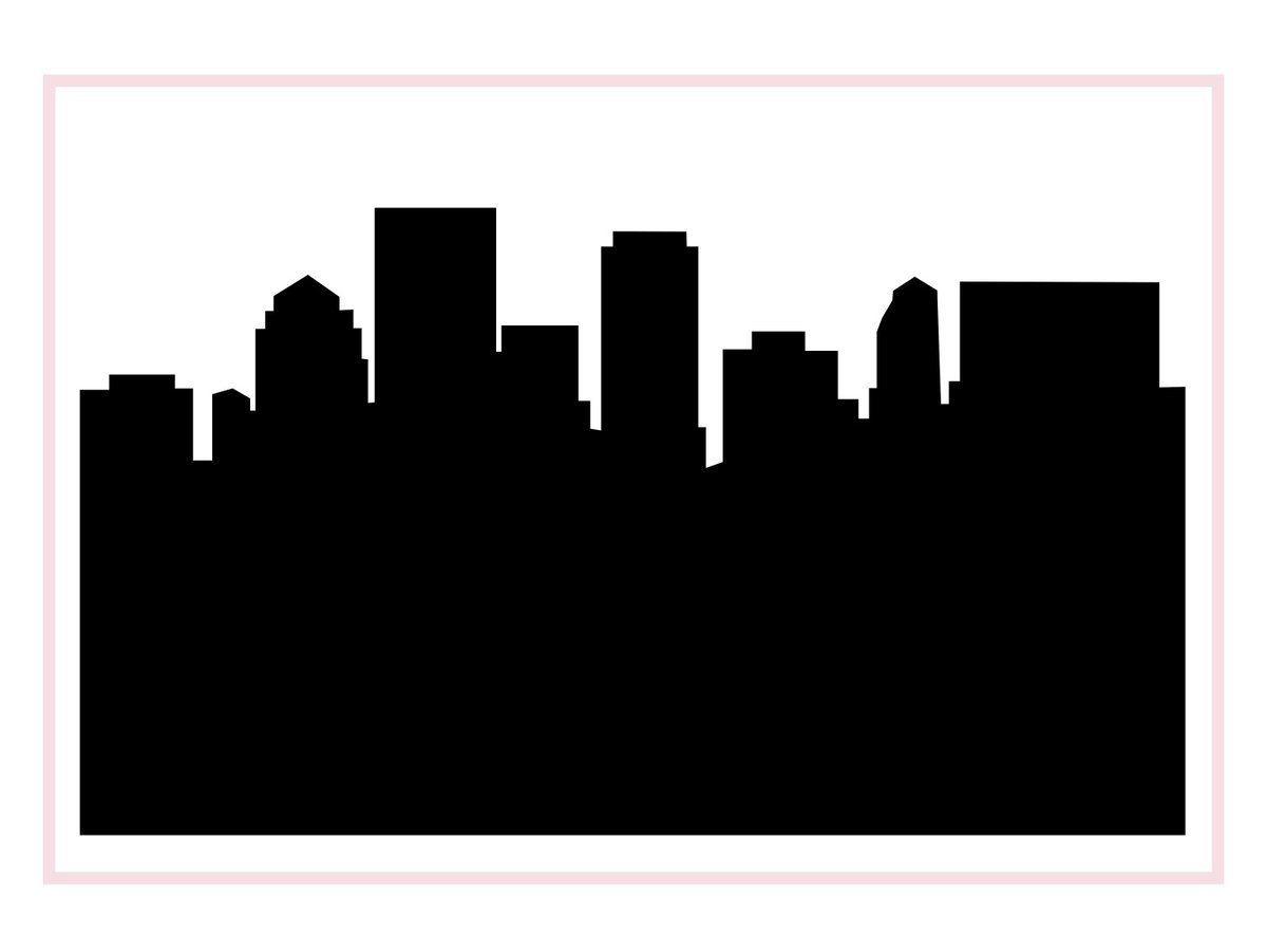 Clipart dayton ohio image transparent Dayton Ohio Skyline Silhouette - Anne Cate image transparent