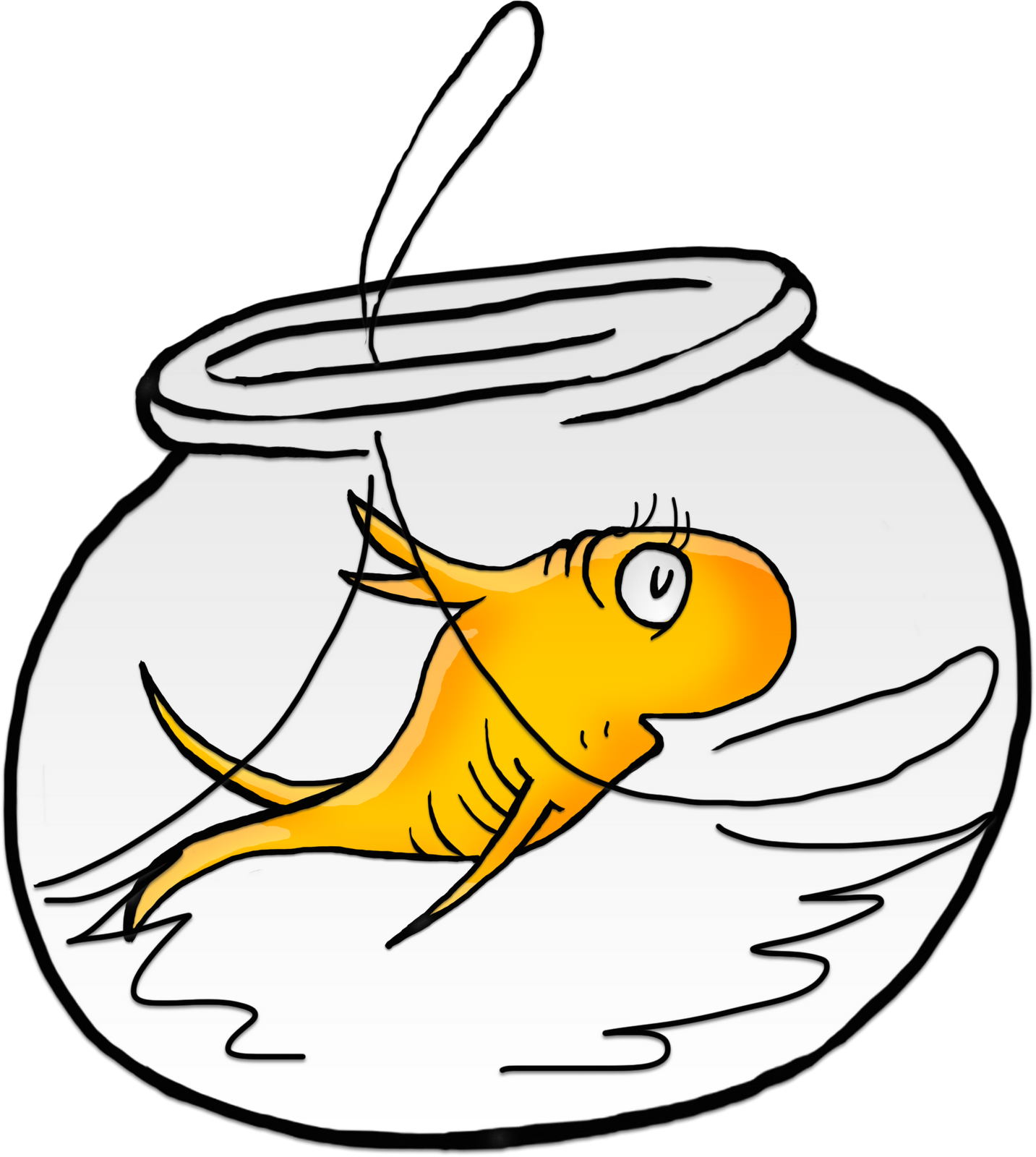 Clipart de fish clip black and white Fish Tank Clipart Dr Seuss Free collection | Download and share Fish ... clip black and white
