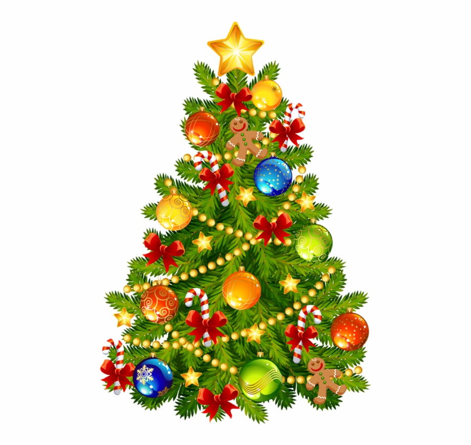 Clipart de natal png Gifs Natal Arvore Png - Decorated Christmas Tree Clipart Free PNG ... png