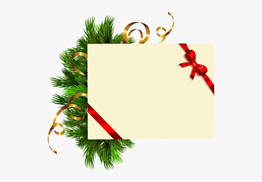 Clipart de natal clip transparent library Christmas Blank With Pine Branches Png Clipart Image - Clipart De ... clip transparent library