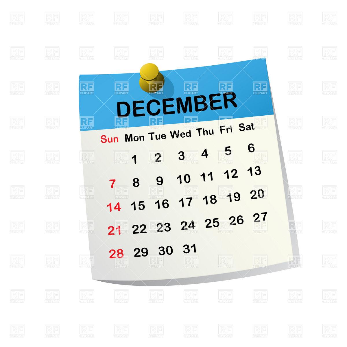 Clipart december calendar graphic library stock Clip Art Calendar December | Calendar Template graphic library stock