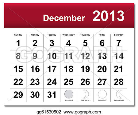 Royalty free clip art. Clipart december calendar