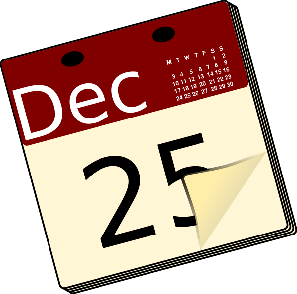 Clip art at clker. Clipart december calendar